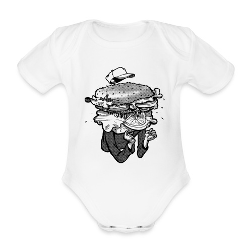 I am Hamburger Baby  Jumper - Organic Short-sleeved Baby Bodysuit