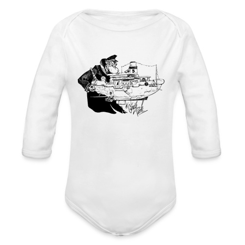 A Captain's Gentle Push Baby Longarm Jumper - Organic Longsleeve Baby Bodysuit