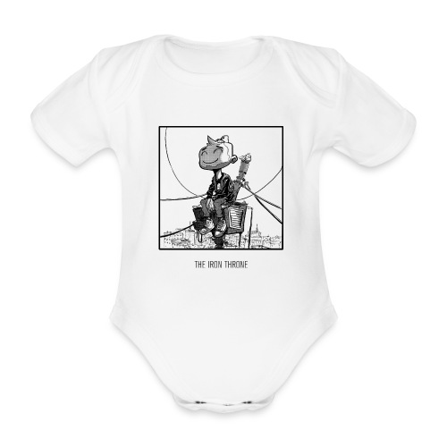 Iron Throne Baby Jumper - Organic Short-sleeved Baby Bodysuit