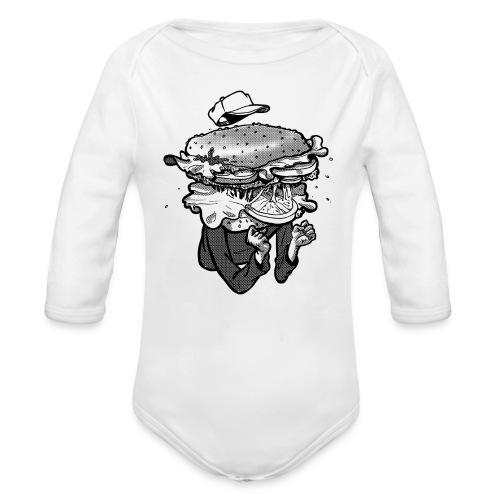 I am Hamburger Baby Longsleeve Jumper - Organic Longsleeve Baby Bodysuit
