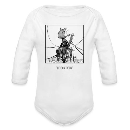 Iron Throne Baby Longsleeve Jumper - Organic Longsleeve Baby Bodysuit