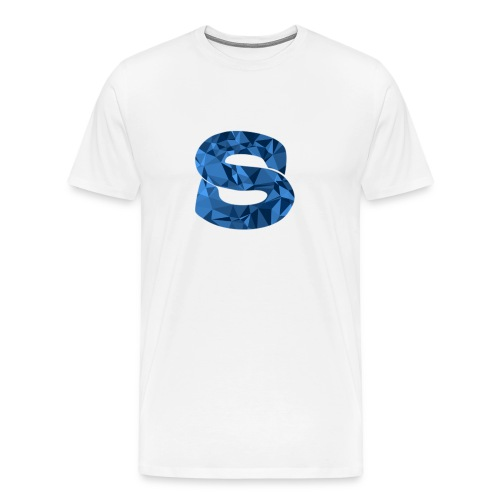 Blue Abstract Logo - Men's Premium T-Shirt