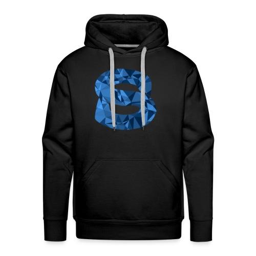 Blue Abstract Hoodie - Men's Premium Hoodie