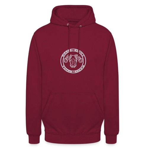 RamSkull Apparell Burgendy hoodie with large logo - Unisex Hoodie