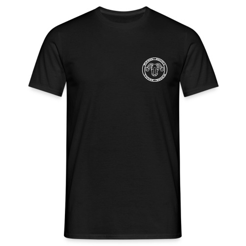 RamSkull Apparell Black tee with logo - Men's T-Shirt