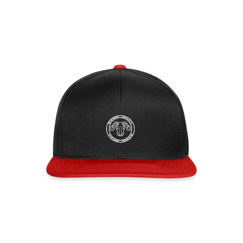 RamSkull Apparell Black and red snapback - Snapback Cap
