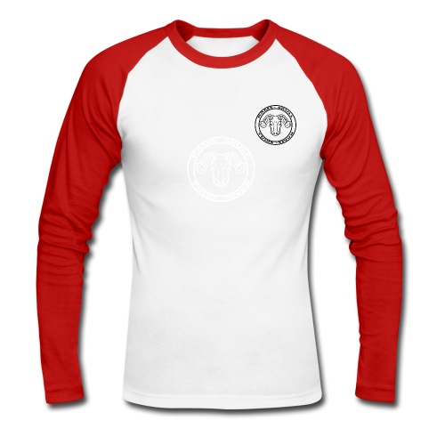 RamSkull Apparell Red and white baseball tee - Men's Long Sleeve Baseball T-Shirt