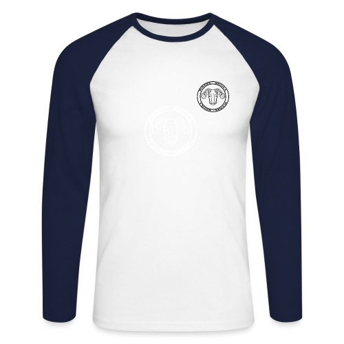 RamSkull Apparell Navy long sleeve baseball tee - Men's Long Sleeve Baseball T-Shirt
