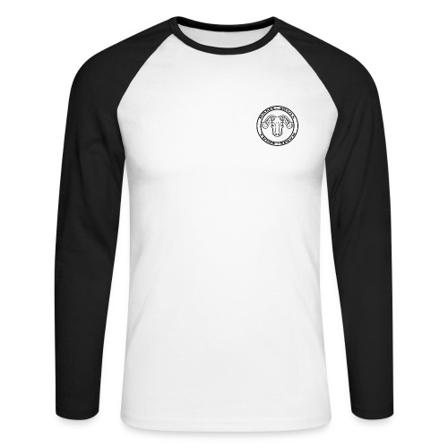 RamSkull Apparell Black long sleeve baseball tee - Men's Long Sleeve Baseball T-Shirt