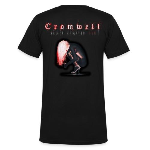 Cromwell - Shirt - Men - Black Chapter Red - Männer Bio-T-Shirt mit V-Ausschnitt von Stanley & Stella