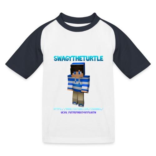 KIDS - T-Shirt SwagyTheTurtle - Kids' Baseball T-Shirt