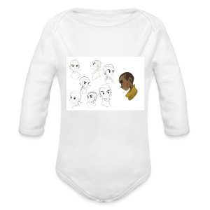 The Legacy Of Kenzo Concept Art Baby One Piece - Organic Longsleeve Baby Bodysuit