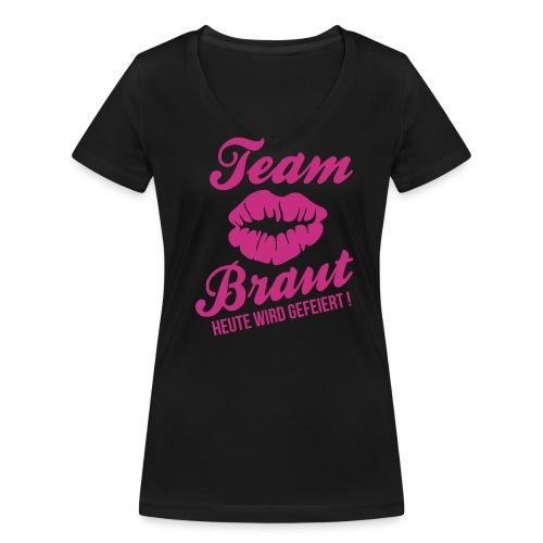 junggesellinnenabschied - Team Braut - Frauen Bio-T-Shirt mit V-Ausschnitt von Stanley & Stella