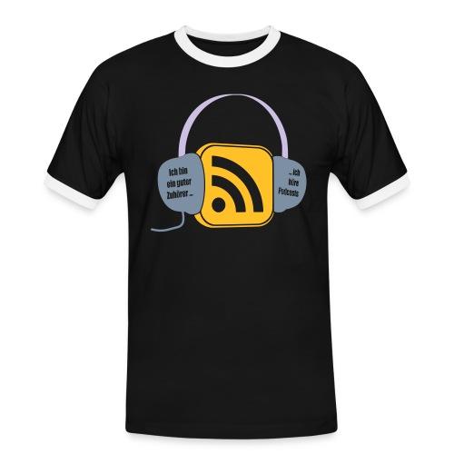 Podcast-Hörer - Männer Kontrast-T-Shirt