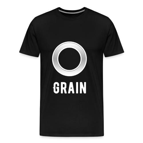 Grain - Logo - T-Shirt   Männer - Männer Premium T-Shirt