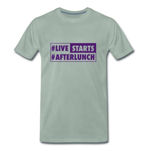 Men's T #LIVE STARTS #AFTERLUNCH - Männer Premium T-Shirt