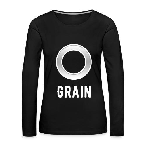 Grain - Logo - Langarmshirt | Frauen - Frauen Premium Langarmshirt