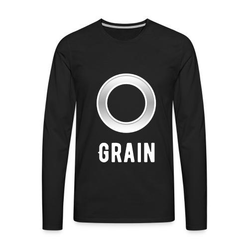 Grain - Logo - Langarmshirt | Männer - Männer Premium Langarmshirt