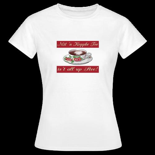 Frauen-T-Shirt Mit 'n Koppke Tee (verschiedene Farben) - Frauen T-Shirt