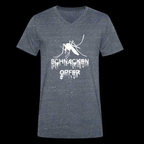 Schnackenopfer - Männer Bio-T-Shirt mit V-Ausschnitt von Stanley & Stella