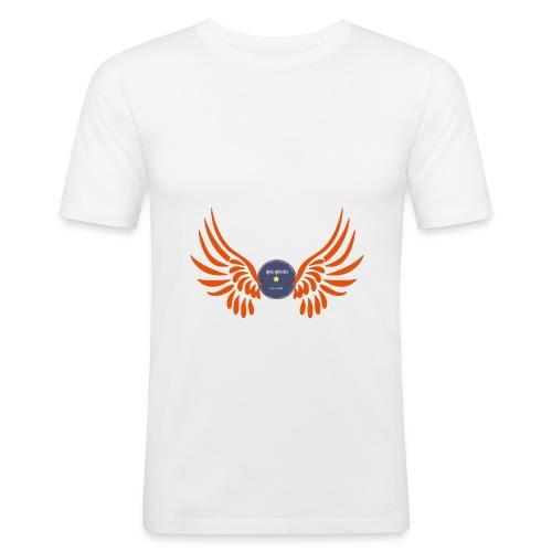 T-Shirt / design / wings / angel / white & multi / orange / choose - T-shirt près du corps Homme