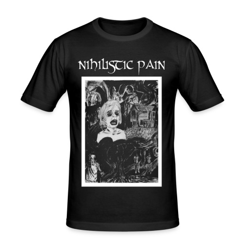 Nihilistic Pain - T-shirt - Slim Fit T-shirt herr
