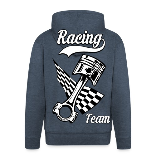 Old Racing team design - Men's Premium Hooded Jacket