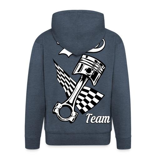 Old Racing team design - Men's Premium Hooded Jacket