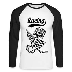 Old Racing team design - Men's Long Sleeve Baseball T-Shirt