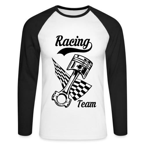 Old Racing team design - Men's Long Sleeve Baseball T-Shirt