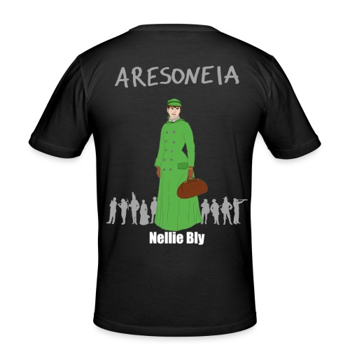 Aresoneia-Bly (Weiß) - Herren-Slim-Fit-Shirt - Männer Slim Fit T-Shirt
