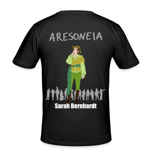Aresoneia-Bernhardt(Weiß) - Herren-Slim-Fit-Shirt - Männer Slim Fit T-Shirt