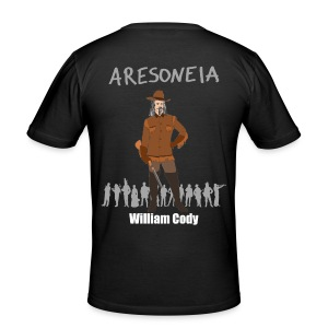 Aresoneia-Cody (Weiß) - Herren-Slim-Fit-Shirt - Männer Slim Fit T-Shirt