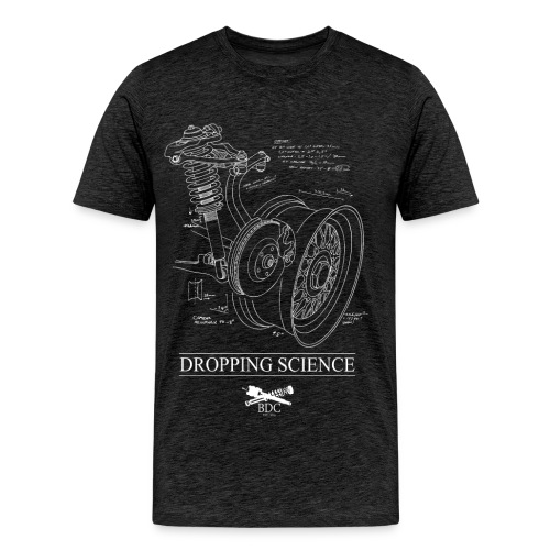 DROPPING SCIENCE GREY - Men's Premium T-Shirt