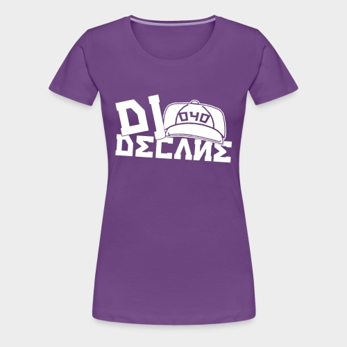 DJ DECANE BLACK PREMIUM  SHIRT WHITE LOGO - Frauen Premium T-Shirt