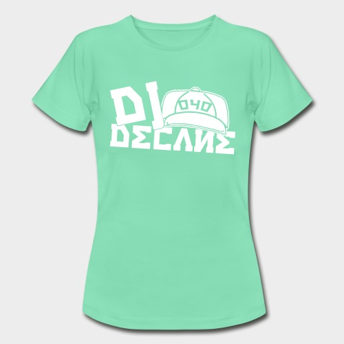DJ DECANE BLACK PREMIUM  SHIRT WHITE LOGO - Frauen T-Shirt