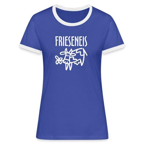Friesendeern - Frauen Kontrast-T-Shirt