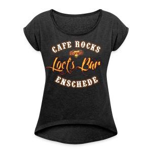 Loet's Bar (Ladies) - Vrouwen T-shirt met opgerolde mouwen