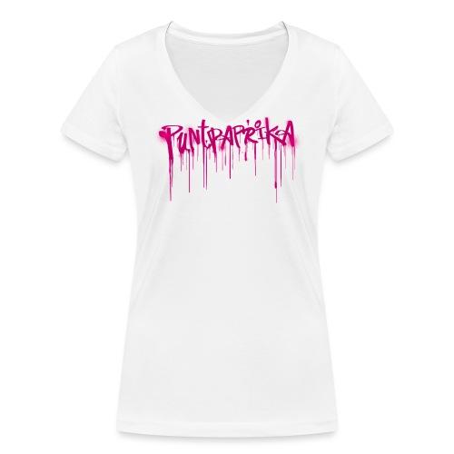 Puntpaprika vrouwen v-hals bio - Vrouwen bio T-shirt met V-hals van Stanley & Stella