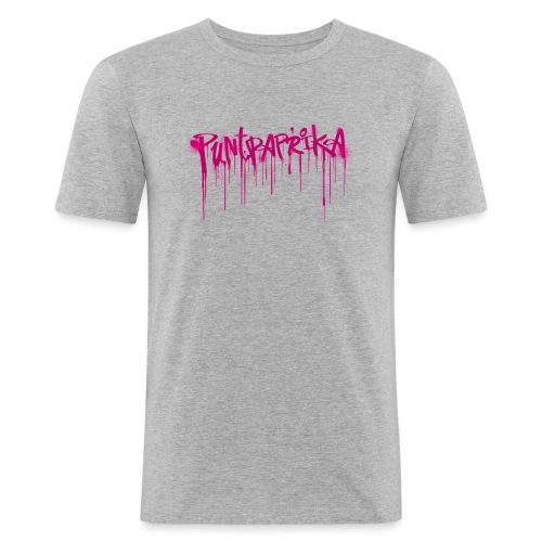 Puntpaprika mannen slimfit - slim fit T-shirt