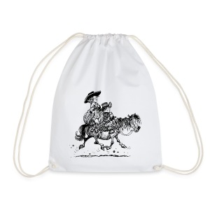 Thelwell Cowboy couple - Drawstring Bag