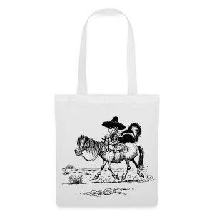 Thelwell Cowboy with skunk - Tote Bag