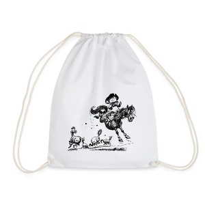Thelwell Cowboy Rodeo  - Drawstring Bag