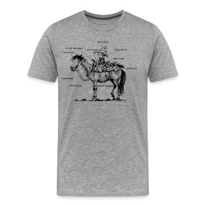 Thelwell Learning Western riding - Men's Premium T-Shirt