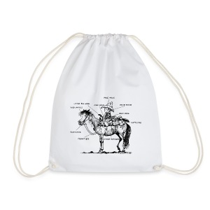Thelwell Learning Western riding - Drawstring Bag
