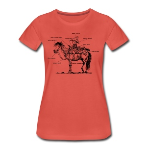 Thelwell Learning Western riding - Women's Premium T-Shirt