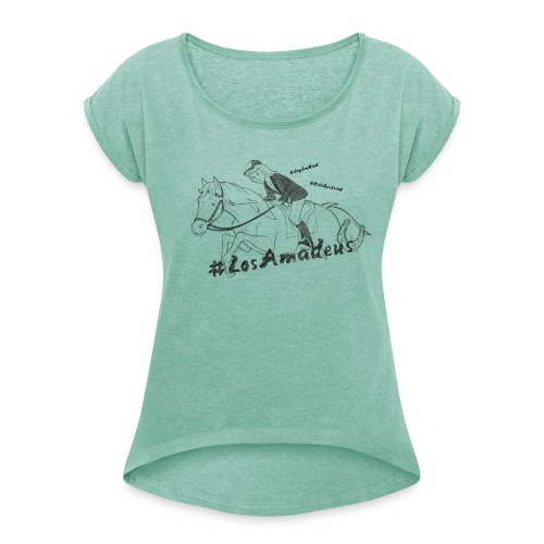 Bibi und Tina 'Tina und Amadeus Los Amadeus' - Frauen T-Shirt mit gerollten Ärmeln
