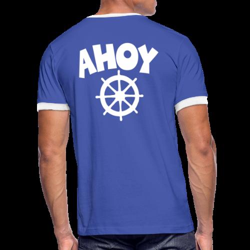 AHOY Wheel Kontrast T-Shirt - Männer Kontrast-T-Shirt