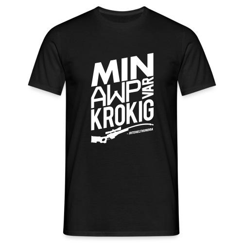Krokig AWP | Intehelthundra - T-shirt herr