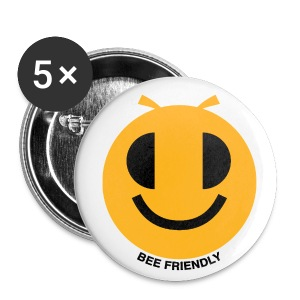Badge Bee friendly texte - Badge petit 25 mm